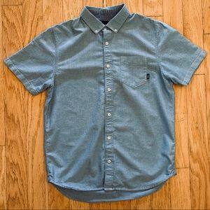 Vans chambray SS button down, small